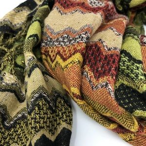 Accessories - Long Wide Warm Patterned Scarf or Wrap